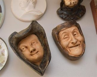Pottery Face Wall Hangings