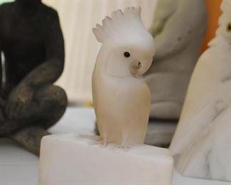 Carved Stone Bird Figurine