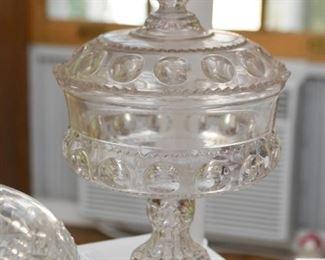 Vintage Glass Pedestal Candy Dish
