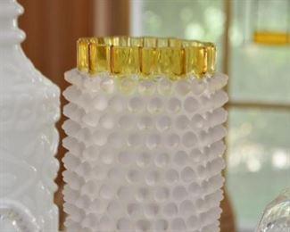 Vintage Hobnail Vase