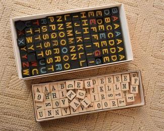 Vintage Letter Game Tiles