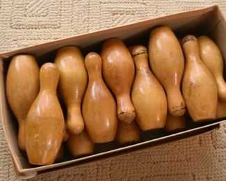 Vintage Miniature Bowling Pins
