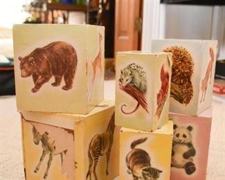Vintage Nesting Toys,  Animals Boxes