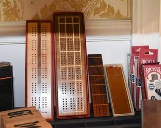 Cribbage Boards & Various Games
