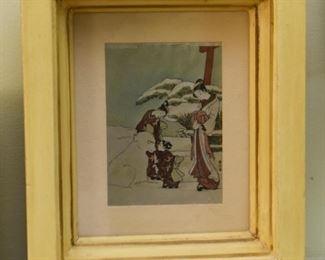 Framed Woodblock Print