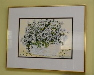 Framed Art, Signed J. Metzler