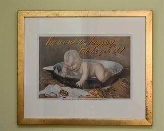 Framed Advertisement for Pears Soap
