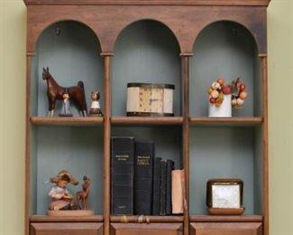 Wood Wall Curio / Display Shelf
