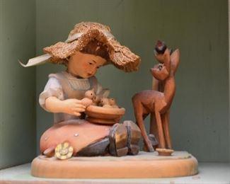 Wood Carved Figurine