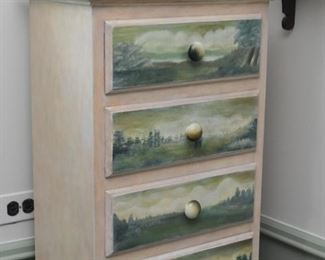 Hand Painted Chest of Drawers (Tall & Narrow)