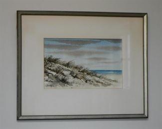 Framed Art, Beach Scene
