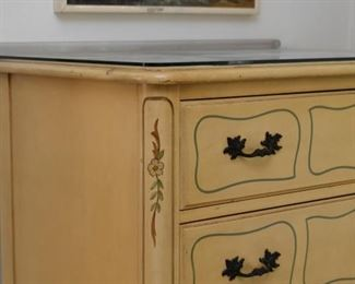 French Provincial Highboy Dresser / Chest of Drawers