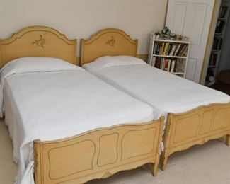 French Provincial Twin Beds