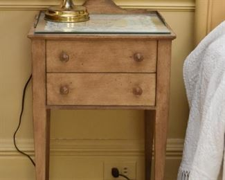 Antique Side Table with 2 Drawers / Nightstand