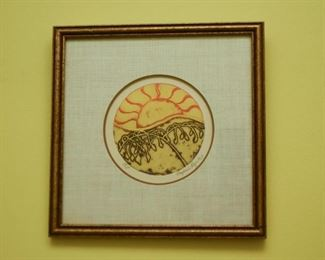 Framed Batik Artwork