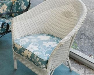 White Wicker Patio / Porch Furniture - Chairs