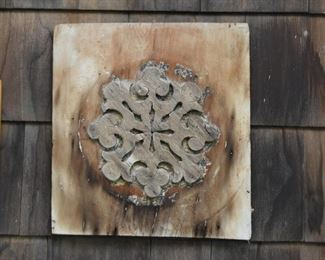 Wood Carved Wall Plaque