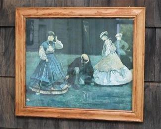 Framed Artwork - Croquet