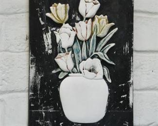 Wall Plaque - Tulips / Flowers Still Life
