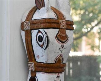 Folk Art Horse Head Wall Hanging