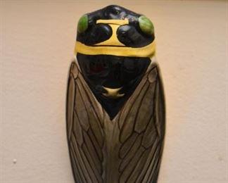 Cicada Pottery Wall Pocket