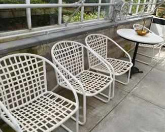 White Garden / Patio Chairs (Set of 4)