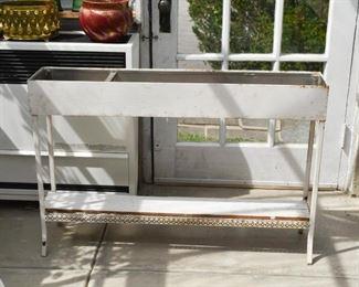 White Garden Planter Stand