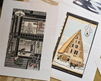 Unframed Woodblock Prints