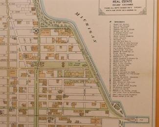 Framed Chicago Real Estate Map
