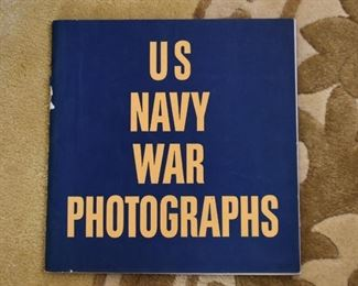 Vintage US Navy War Photographs Book