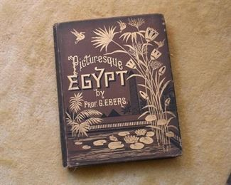 Antique Book - Picturesque Egypt by Prof. G. Ebers