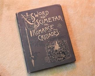 Antique Book - Sword & Scimetar: The Romance of the Crusades, Illustrated by Gustave Dore