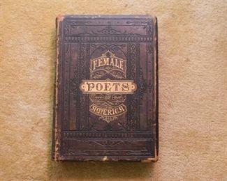 Antique Book - Female Poets of America