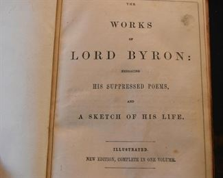 Antique Book - The Works of Lord Byron