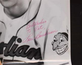 Sports Memorabilia - Autographed Baseball Photograph, Lou Boudreau