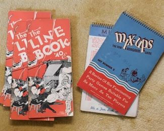 1940's Song Book, Vintage Mix-Ups Party Games