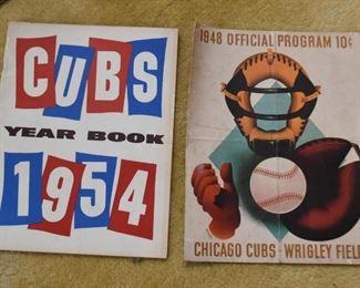 Vintage Chicago Cubs Programs