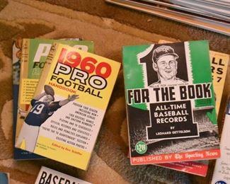 Vintage Football & Baseball Books and Magazines