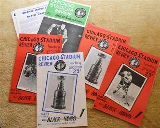Vintage 1960's Chicago Blackhawks Programs