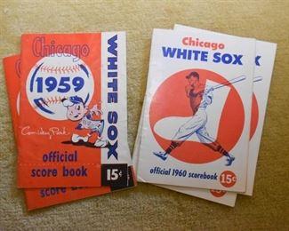 Vintage 1959 & 1960 Chicago White Sox Official Score Books / Programs