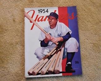 1954 Yankees Baseball Program