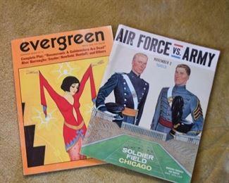Vintage Magazines & Sports Programs (Army vs. Navy, Soldier Field)