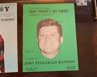 1964 Chicago Saint Patrick's Day Parade Program - JFK