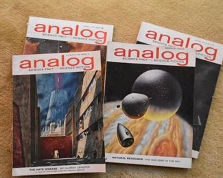 Vintage Analog Magazines (Science Fact, Science Fiction)