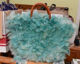 Vintage Feather Handbag