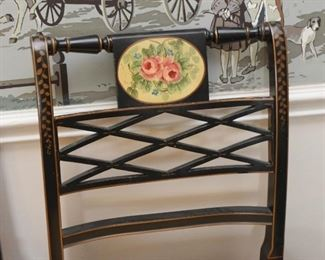 Hand Painted Side Chair - Roses Motif