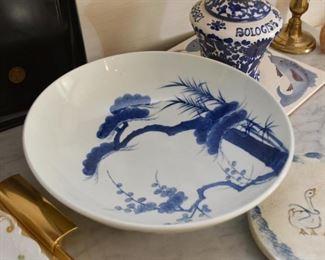 Asian Blue & White Bowl