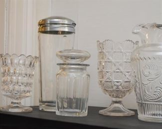 Crystal & Glassware - Pitchers, Decanters, Vases, Jars, Etc.