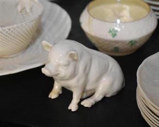 Belleek Pig Figurine
