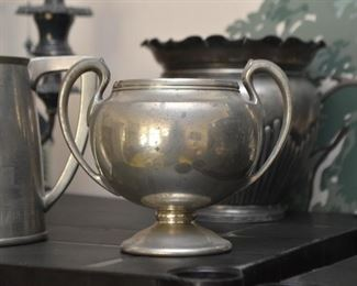Pewter 2-Handled Urn